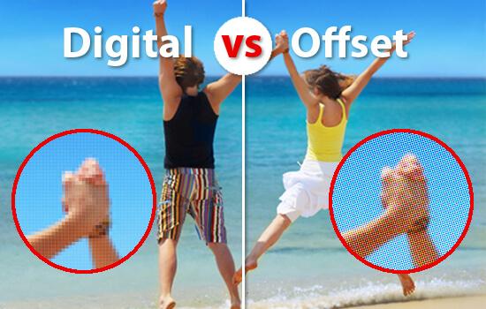 Разница между офсетной и цифровой печатью
