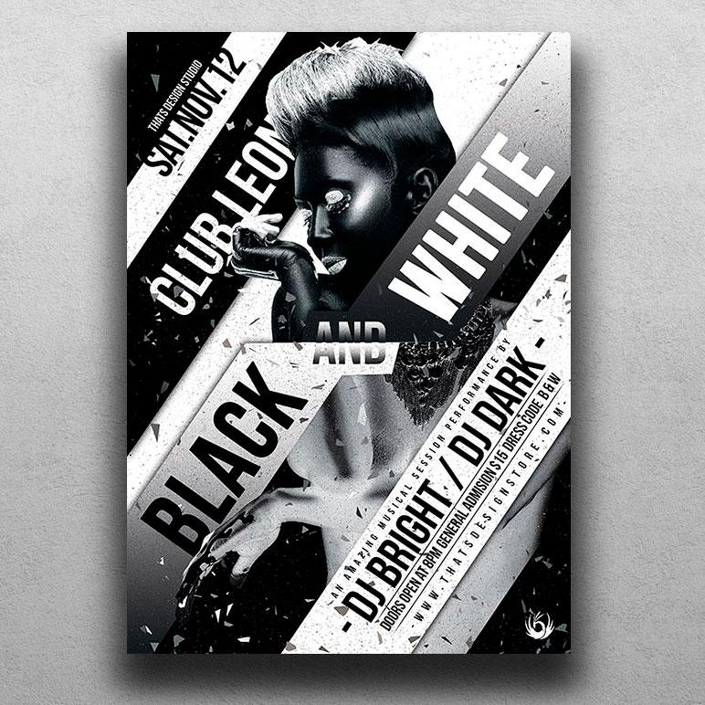 Черно-белые листовки