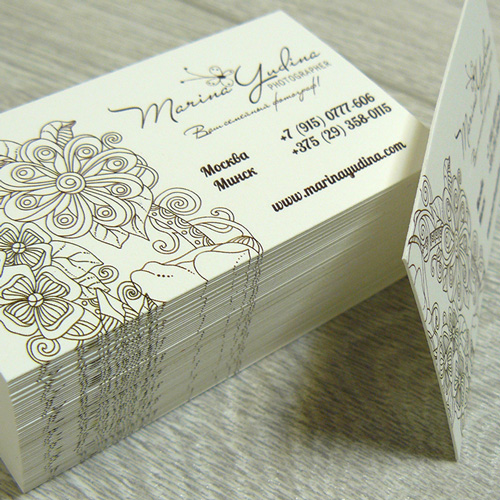 Мелованные визитки